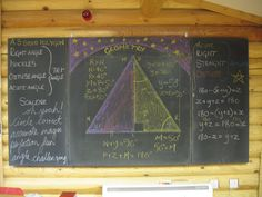 Waldorf ~ 6th grade ~ Geometry ~ chalkboard drawing