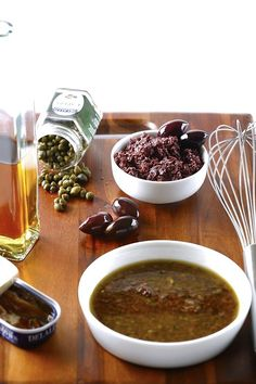 Whether used simply as a salad dressing, a drizzle or a marinade, this bold vinaigrette is made with Calamata olives and our sweet vinegar. Olive Recipes, Italian Recipes, Italian Foods, Salad Recipes, Healthy Recipes, Healthy Meals, Whole Wheat Pasta, Tapenade, Greek Salad