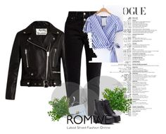 """""""ROMWE"""" by adler1 ❤ liked on Polyvore featuring Acne Studios and Balenciaga"""