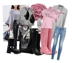 """""""Grey and pink in autumn"""" by inger-lise on Polyvore featuring CO, Balenciaga, Topshop, Love Moschino, Hunter, Rodarte, STELLA McCARTNEY, London Edit, MANGO and Cartier"""