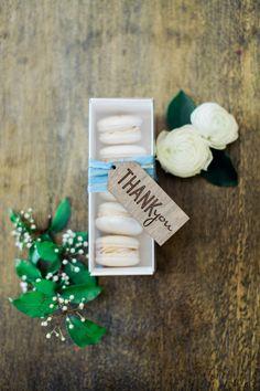 Macaron favors: http://www.stylemepretty.com/arizona-weddings/paradise-valley/2015/07/21/romantic-intimate-foodie-wedding-inspiration/ | Photography: Elyse Hall - http://elysehall.com/
