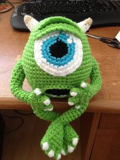 Mike Wazowski de Monsters Inc sur mesure par PawfectGifts sur Etsy, $40.00