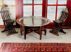97 Ø cm orientalische  ägyptisch tablett Teetisch Tisch