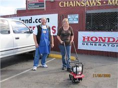 Winner of the #Honda sweepstakes at the #Gardenland Power Equipment 50th Anniversary event