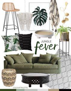 Trend: Jungle Fever — Adore Home Magazine Tropical Interior, Tropical Home Decor, Home Living Room, Living Room Decor, Bedroom Decor, Apartment Decoration, Deco Studio, Estilo Tropical, Interior Decorating