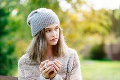 Gray beanie hat Gray knit hat Alpaca wool by Isabellwoolstudio