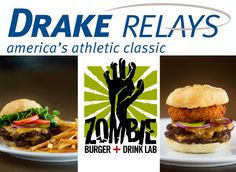 A Drake journalism class dreamt up this fun promotion and made it reality: Relays fans create their ideal Drake Relays-themed burger and submit it online. The winning recipe ends up on the menu at Zombie Burger, a restaurant in downtown Des Moines. http://drakejournalism.com/socialclass/2012/04/09/zombieburger/