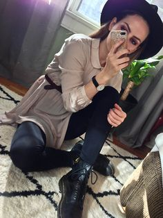 Get this look: http://lb.nu/look/7876734  More looks by Waters Riley: http://lb.nu/streetfem  Items in this look:  Dr. Martens Boots   #casual #chic #edgy #casualwear #modest #outfit