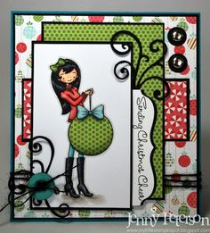 Sending Christmas Cheer by jennypete - Cards and Paper Crafts at Splitcoaststampers