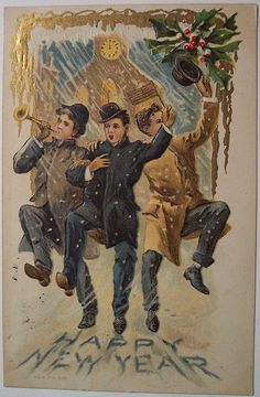 Vintage New Years Postcard by riptheskull, via Flickr