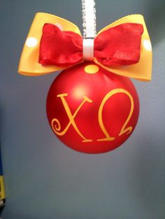 Would love an ADPi one like this!!!adorable ornament