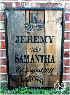 Three Mango Seeds: PALLET WOOD WEDDING/ANNIVERSARY SIGN