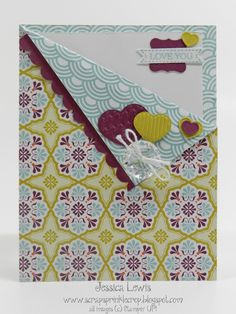 LOVE-ly Stampin' UP! pocket card and matchbox Fun Fold Cards, Diy Cards, Handmade Cards, Pocket Cards, Pretty Cards, Flower Cards, Stampin Up Cards, Paper Design, Valentines
