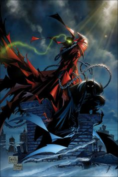 Spawn & Batman by Greg Capullo