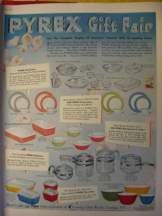 Vintage Pyrex ad
