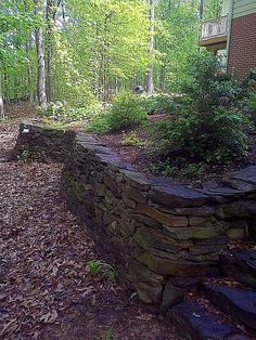 Drystacked Stone Wall and Steps