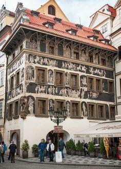 House at the Minute [Dům u Minuty] (1610), view #1, Staroměstské náměstí 3/2, Old Town [Staré Město], Prague, Czech Republic | by lumierefl