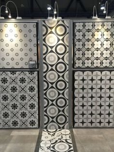 Porcelain tile from Arizona Tile that looks like cement tile but has more durable properties #cementtile #interiordesigntrends #2018trends