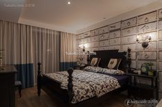 American style decoration design effect bedroom pictures 2015