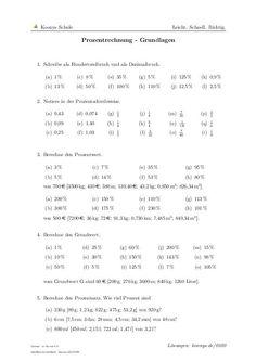 Prozentrechnung - Grundlagen | Aufgaben mit Lösungen und Videoerklärungen | lineare #Gauss #Algorithmus #Klasse 7