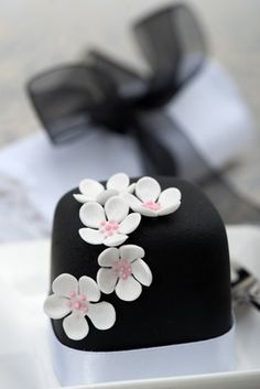 beautiful black stencilled cakes   For an extra £2-00 we can box your cakes individually and tie with ...