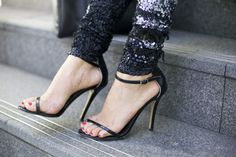 #black #straps #stilettos #heels