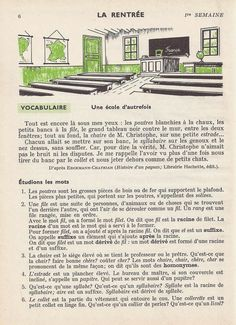 Manuels anciens: 1. La rentrée French Learning Books, France, Learn French, Diagram, Large Painting, French Lessons, Grammar, Vocabulary, Learn To Speak French