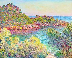 """Landscape Near Montecarlo"", 1883, Claude Monet."