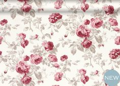 Roses Cassis Floral Wallpaper
