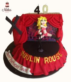 Moulin Rouge Birthday Cake