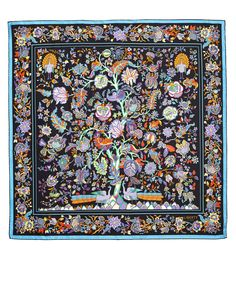 Black Tree of Life Print Silk Scarf, Liberty London Scarves. Shop the latest silk scarves from the Liberty London Scarves collection online at Liberty.co.uk