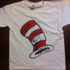 One of the Dr Seuss shirts I painted for brae's birthday party (I made 6 total) pinterest/ashcrash007