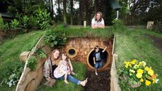 Dad creates Hobbit hole for children