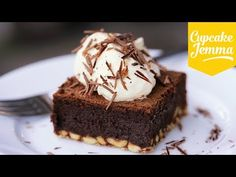 Ultimate Chocolate Brownies | Cupcake Jemma  Great how-to video for making this delicious brownie!