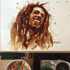 Maria A. Aristidou creates beautiful art using coffee