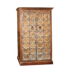 Indian antique hand carved wooden cabinet with front 2 door three shelves for plenty of storage, this is the perfect piece for your bedroom. Unique style and design to your home interior. Beautiful and amazing cabinet. Wooden Cabinets, Storage Cabinets, Tall Cabinet Storage, Armoire For Sale, Vintage Armoire, Decoration, Cupboard, Teak, Home Accessories