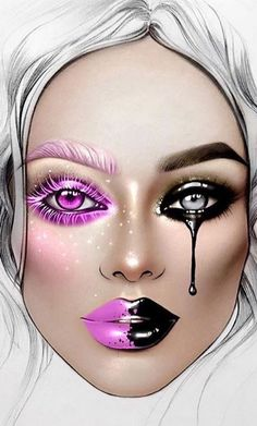 eye makeup illustration make up / eye makeup illustration make up Eye Makeup Art, Makeup Inspo, Makeup Inspiration, Arabic Makeup, Indian Makeup, Makeup Ideas, Mac Face Charts, Makeup Face Charts, Creative Makeup Looks