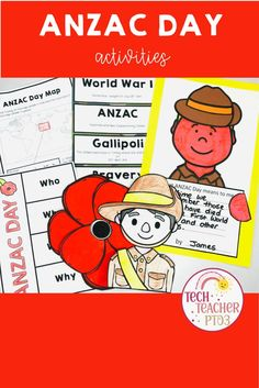 Your students will be so engaged with crafting and writing this study of Australia's most important commemoration that they won't even realise they are learning! The materials in this pack provide a fantastic introduction to the history of ANZAC's Day and will keep your classroom buzzing with activity with wall displays, maps, booklets and more! Primary School Curriculum, Primary School Teacher, Homeschool, History Activities, Teaching History, Literacy Activities, Naidoc Week Activities, National Sorry Day, Third Grade Writing