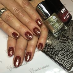 Acrylic Nails, Hollywood speed lac, caption stamping art