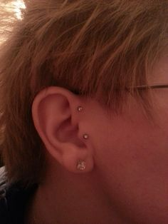 Tragus' and now my forward helix's are done!