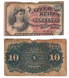 10 cent fractional bill 1863