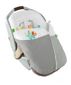 Love this Gray & White Snuggle 'n' Stroll Carrier Blanket by Taggies on #zulily! #zulilyfinds