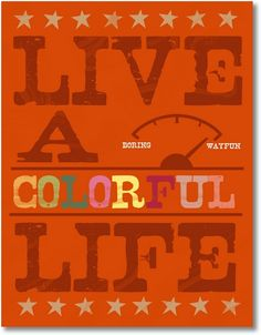 Free Printable - Live a Colorful Life - EverythingEtsy.com {3} - 5 Different Colors Schemes