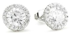 """CZ by Kenneth Jay Lane """"Traditional"""" Round Cubic Zirconia with Pave Trim Stud 6 Cttw Earrings CZ by Kenneth Jay Lane,http://www.amazon.com/dp/B005NGT6JC/ref=cm_sw_r_pi_dp_nC9otb0Z7Q1JQ8S6"""