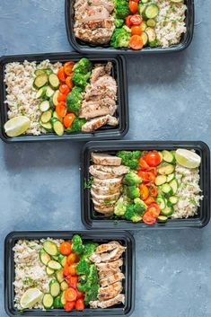 Lemon Chicken with Cilantro Brown Rice is herbed chicken and crunchy vegetables to make a delicious healthy meal for your busy weekday dinner/lunch.