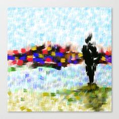 Les Amoureux Stretched Canvas by Escrevendo e Semeando - $85.00