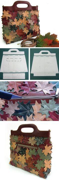 Pretty step to step bag tutorial. http://fastmade.blogspot.com/2016/12/pretty-leather-bag-tutorial.html