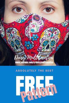 Easy Face Masks, Best Face Mask, Diy Face Mask, Pocket Pattern, Free Pattern, Mask Template, Good Tutorials, Christen, Diy Mask