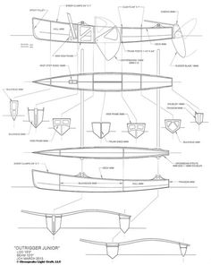 Chesapeake Light Craft Outrigger Junior Sailboat Kit and Plans Wooden Model Boats, Wooden Boat Building, Boat Building Plans, Wood Boats, Make A Boat, Build Your Own Boat, Diy Boat, Canoe Plans, Boat Plans