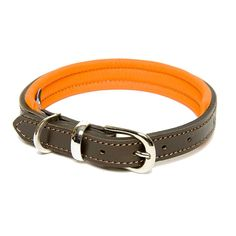 I've just found Colours Leather Collar. Luxury leather collar comprising a tough brown hide outer lined with soft padded leather in a contrasting colour. Finished with bright nickel-plated fittings.. £35.00